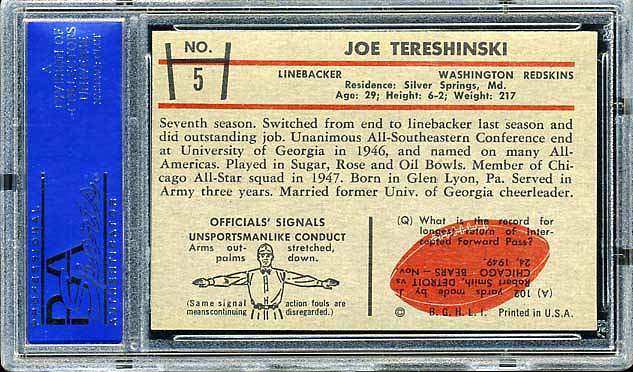 1953 Bowman Tereshinski