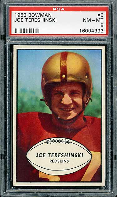 1953 Bowman Joe Tereshinski