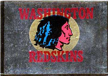 1960 Topps Metallic Sticker Redskins