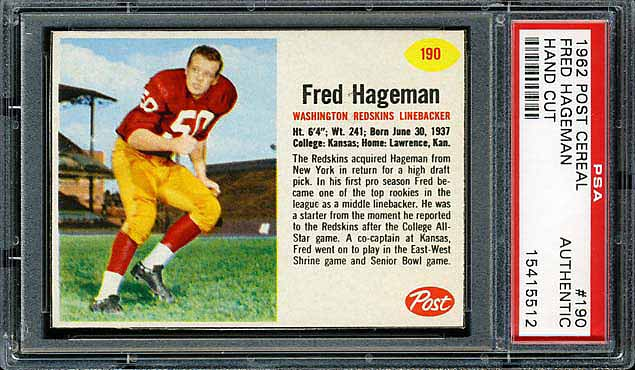 1962 Post Cereal Fred Hageman