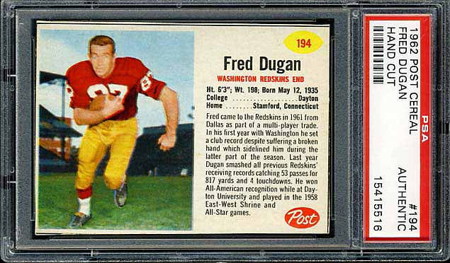 1962 Post Cereal Fred Dugan