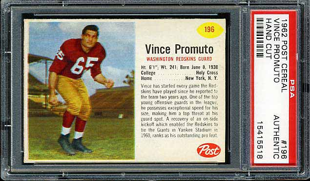 1962 Post Cereal Vince Promuto