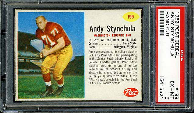 1962 Post Cereal Andy Synchula