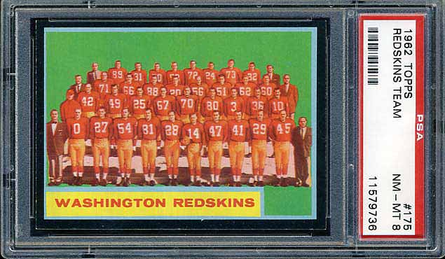 1962 Topps Washington Redskins