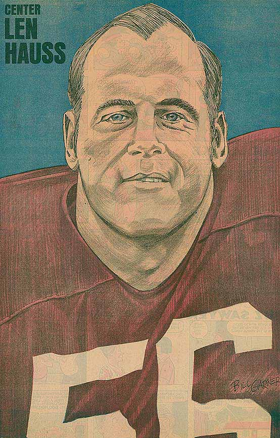 Redskins Newspaper Posters Len Hauss