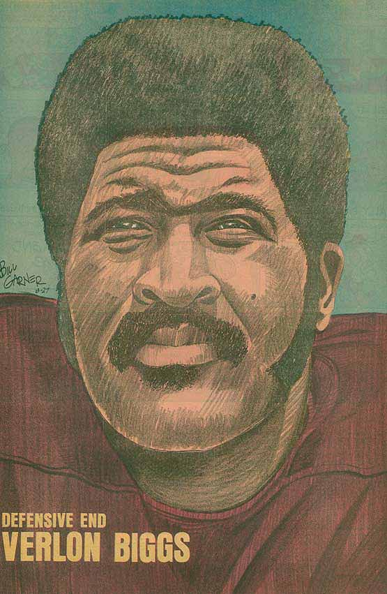 Redskins Newspaper Posters Verlon Biggs