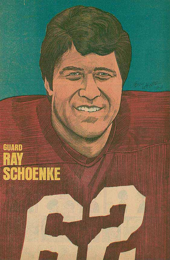 Redskins Newspaper Posters Ray Schoenke