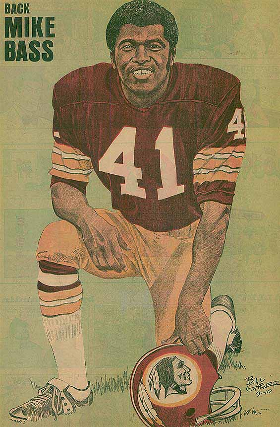 Redskins Newspaper Posters Mike Bass