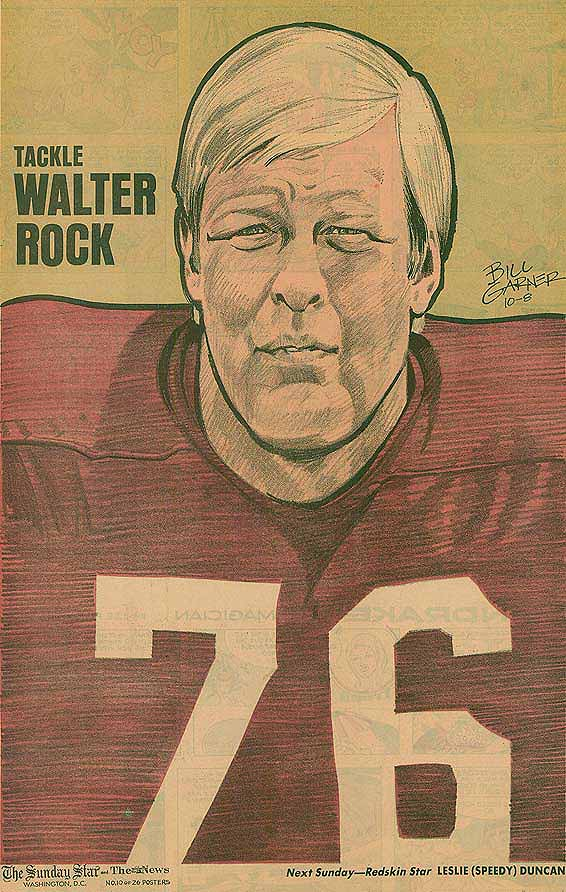 Redskins Newspaper Posters Walter Rock