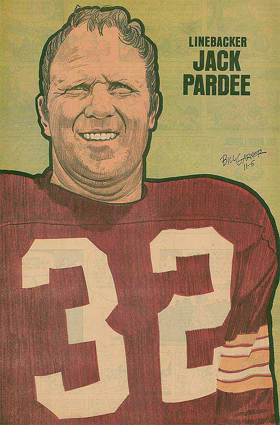 Redskins Newspaper Posters Jack Pardee