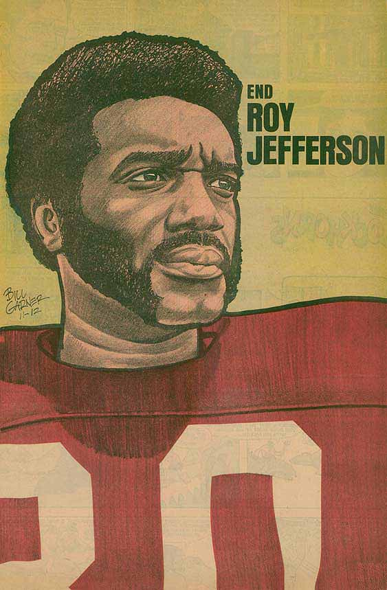 Redskins Newspaper Posters Roy Jefferson
