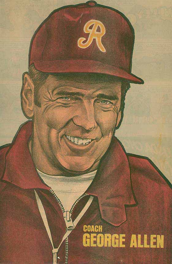 Redskins Newspaper Posters George Allen
