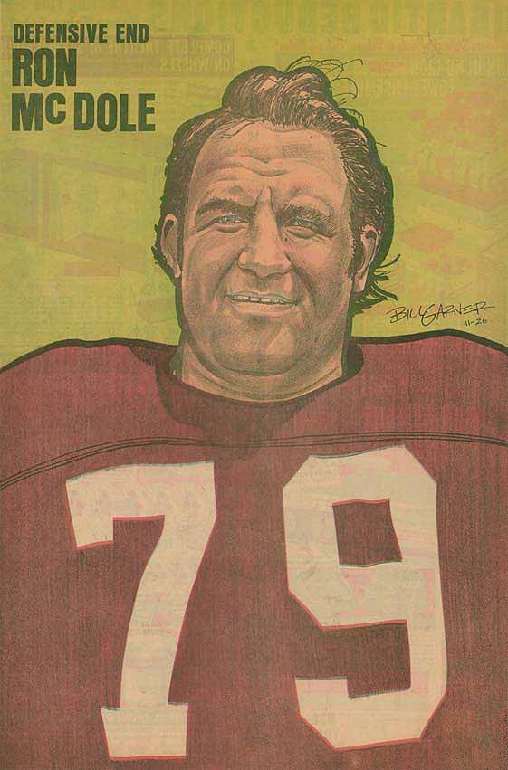 Redskins Newspaper Posters Ron McDole