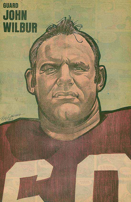Redskins Newspaper Posters John Wilbur