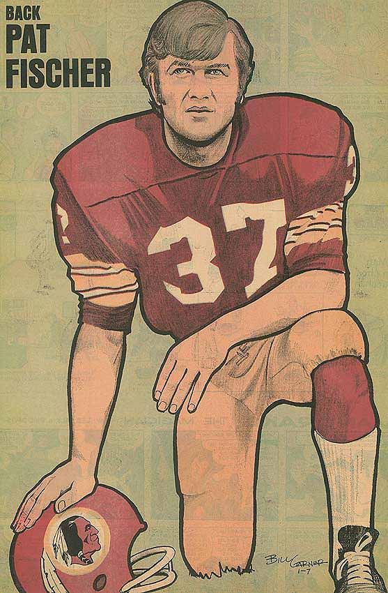 Redskins Newspaper Posters Pat Fischer