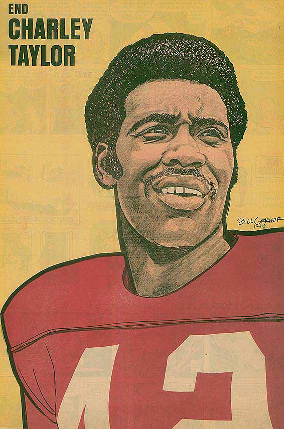 Redskins Newspaper Posters Charley Taylor