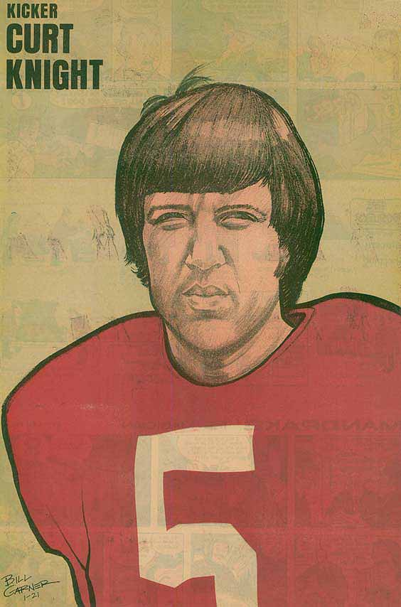 Redskins Newspaper Posters Curt Knight