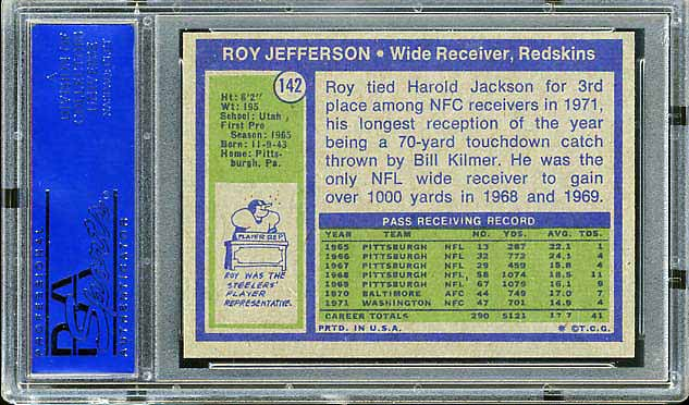 1972 Topps Roy Jefferson