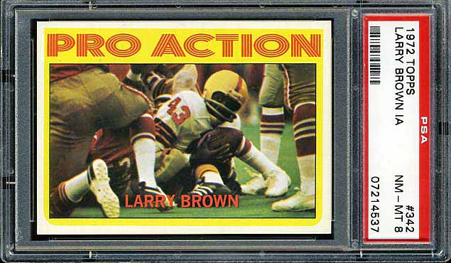 1972 Topps Larry Brown In Action