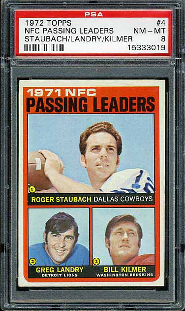1972 Topps Leaders Passing