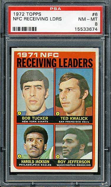 1972 Topps Leaders Receiving