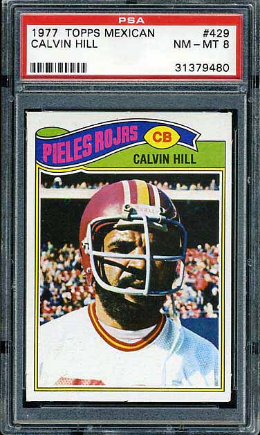 1977 Topps Mexican Redskins Hill