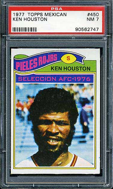 1977 Topps Mexican Redskins Houston