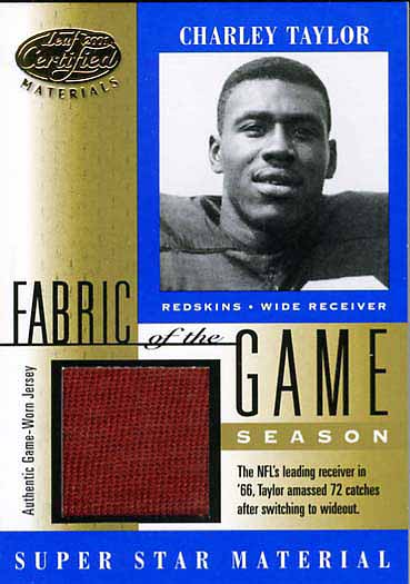Charley Taylor Jersey Card