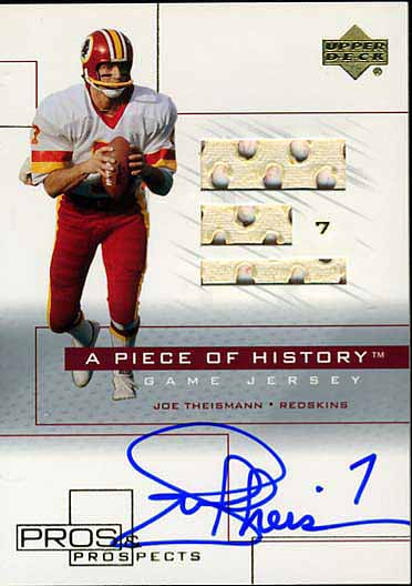Joe Theisman Jersey Card