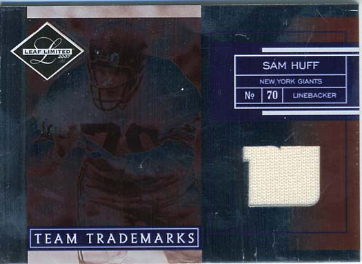 Sam Huff Jersey Card